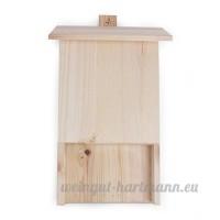 Fait à la main Maison de batte en bois Nichoir/à suspendre chauve-souris Maison/haute 40cm X Largeur 26cm X Profondeur 6cm - B079NGFBSF