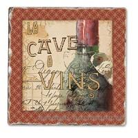 French Cellar Single Tumbled Tile Coaster - B00NO58HTE