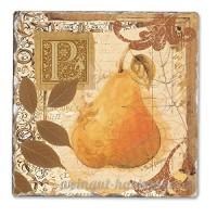 Tuscan Pear Single Tumbled Tile Coaster - B00NO5DJT2