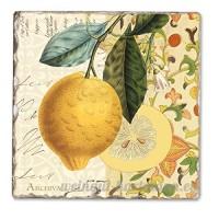 Mandarin Single Tumbled Tile Coaster - B00NO580V4