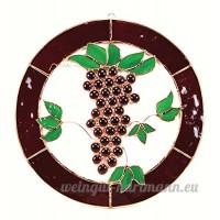 Petit Panneau raisins n vigne cercle de la fenêtre - B00PYESZMC