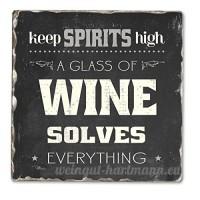 Keep Spirits High Single Tumbled Tile Coaster - B00NO5EB4E