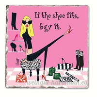 If the Shoe Fits Single Tumbled Tile Coaster - B00NO5E2MK