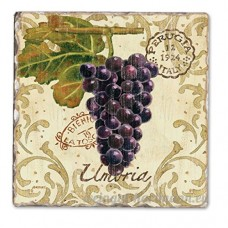 Vista Grapes Single Tumbled Tile Coaster - B00NO5DQJK