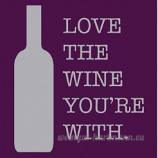 Love The Wine You're With Cocktail Napkins - B00MEMG7L8