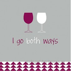 Evergreen Enterprises EG4NC1416 I Go Both Ways Cocktail Napkin - B00MEMG57O