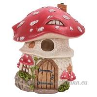traditionnel Rouge Champignon birdhouse - B071WQ13HY
