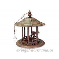 Mangeoire à oiseaux 'Lovely Bird'  à suspendre  hauteur: 32cm  marron/cuivre  detailreich  en plastique  oiseau Hôtel travaillé Oiseaux Mangeoire à suspendre - B01MZIVFUL