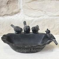 Bain d'Oiseaux en Fonte Gris 21x20x8 cm - B07BRZ5BXC