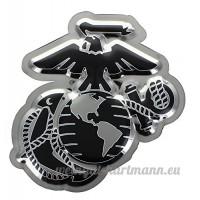 U.S. Marine Corps Chrome Domz Steel Wall Hanging - B0797MCML1