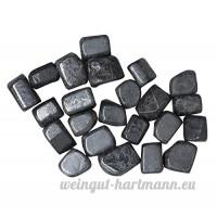 Prisha Decorative Hematite Healing Tumbled Stone Pebbles Glossy Stones for Home Decor  Garden  Vase Filler  Healing  Spiritual  Positive Energy  Vastu  Health 1.1 Pounds - B077MP5PFL