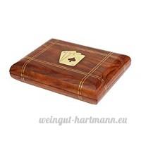 Royal Handicrafts Handcrafted Classic Wooden Playing Card Holder Deck Box - B076FSNVWN