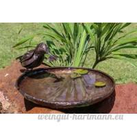 ravissant RSPB Métal Kingfisher Bird de bain  30cm de diamètre–Fait partie de la gamme Tilnar fait main Commerce équitable - B06XF6FQRS