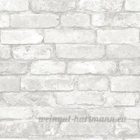 Grey and White Brick Peel And Stick Wallpaper  Model: NU1653  Tools & Hardware store - B01FFNIMM4