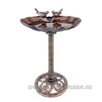 Grande table Bain d'oiseaux Effet bronze Coque avec fonction pierres pour décoration de jardin - B00U1K2DRM