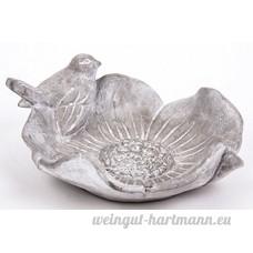 Abreuvoir à oiseaux  gris  Céramique - B01BRKGM2G
