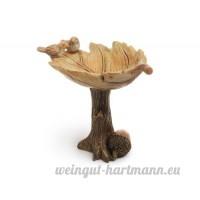 Jardin Féérique miniature ~ Oiseaux allongé sur feuille Birdbath ~ Neuf - B01BL2SU8E
