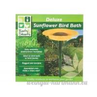 De jardin bain à oiseaux en forme de tournesol - B007IROUWC