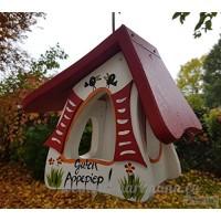 """'Mangeoire """"La vie est belle  Pièce unique en l'oiseau Villa Atelier  peint à la main  en bois issu de forêts süddeutschen certifié - B076CPB9YX"""