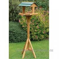 Green Gem traditionnel en bois naturel pour oiseaux Jardin extérieur Oiseaux Mangeoire station d'alimentation sur pied Nest House - B01MTNTREW