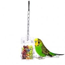 Clear Acrylique Mangeoire à oiseaux Parrots Système interactif jouet suspendu style pour perroquet Aras Pet - B01HRR1DWW