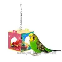 coloré en acrylique pour oiseaux Parrots Système interactif jouet suspendu style pour perroquet Aras Pet - B01HRR1HO6
