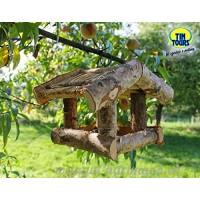 Mangeoire en bouleau/jardin mangeoire 24x 20x 19h cm - B0183U94CI