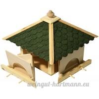 Luxus-Vogelhaus 98700e Cabane à oiseaux à 4 tiroirs mangeoires séparées et 8 barreaux d'envol - B00P160MLA