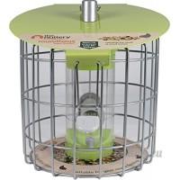 Monde Source partenaires–Roundhaus Distributeur Petit Rond Mangeoire à oiseaux  Vert Anis - B00LE7WFVU
