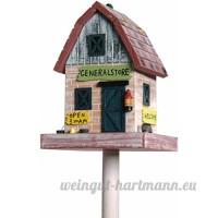dobar 25306FSC Maison pour oiseaux General Store aux détails travaillés  avec support  de style western - B01E7HC9LE