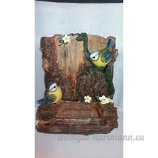 Vivid Arts murale Mangeoire à bûches avec mésange bleue Cadeau - - B01B7U7OFK