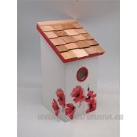 Garden Bazaar Hb-9075pacs Boîte à sel Anémone Bird House–White-p Coquelicot 15x16x29 cm blanc - B00SVE7EKG