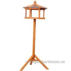 Mangeoire sur pied nichoir a plateau station a oiseau bois pour exterieur 113cm 06 - B00GTG63QY