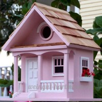 Garden Bazaar Hbb-1004 Cotton Candy Cottage Bird House – Rose - B00I8YI0GQ