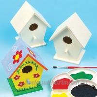 Baker Ross Lot de 4 Mini Maisons à Oiseaux en Bois à décorer - B00HU4LLU2