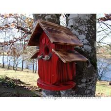 Nichoir à oiseaux Maison à oiseaux PRODUIT FRANCAIS  30 cm haut  rouge vif brossé  toits flambés  Villa à oiseaux pour jardin colorés  fait avec du bois massif Douglas et pin  tout est vissé  lasuré 3-fois avec lasure acrylique. Nous sommes membre de la chambre d'artisanat français. 98 % de nos clients sont satisfaits. Qualité/prix excellentes  petits crochets pour des boules de graisse en cadeau. - B0798XGDRF