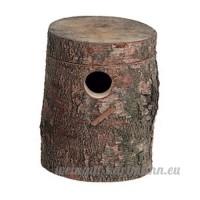 Nid-tronc de bouleau pour les perruches et les oiseaux exotiques Petit - B00O283B3E