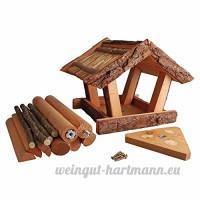 Fallen Fruits écorce Table Oiseau en bois et paille - B00FWO2EE4
