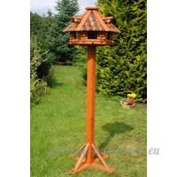 Deko-Shop-Hannusch Nichoir à oiseau imposant en bois enduit sur pieds 1 56 m - B0044D7DN6