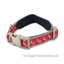licence officielle double nylon durable Petit rouge chien animal de compagnie Souple Col rembourré - B07CDCP5PD