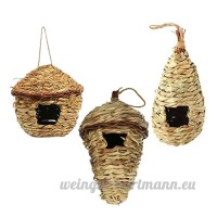 Baoblaze 3x Nid D'oiseaux Nichoir Suspendu Jardinage Grotte Perroquet Bird House Craft Nature - B07CPYKSWL