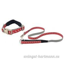 2 Pce licence officielle double nylon durable Large Rouge LAISSE POUR CHIEN Leader et collier - B07CN28GRQ