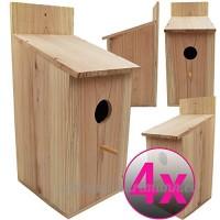 Powerpreise24 Nichoir pour oiseaux à suspendre 43 x 19 x 18 cm en bois de pin - Nichoir naturel  stable et résistant aux intempéries - B079SZCX3S