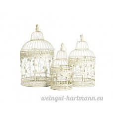 Lot de 3 cages en fer blanc - B079175WZK