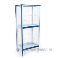 Abri pour oiseau de jardin double disponibles en bleu et rouge - B0739ZGJVB