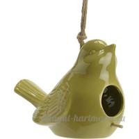 Amadeus - Nichoir en forme d oiseau en céramique vert - B06Y3ZR9XL