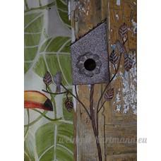 Métal antique Bird Maison Hôtel Jardin Nester Mangeoire pour debout vintage - B06XXF5S5B