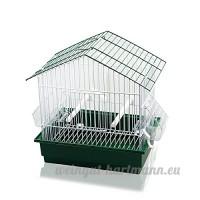 DZL Cage pour oiseaux avec mangeoires  bâtons  balançoires (27.5x 19.5x 30cm) vert - B01NADZ7SS