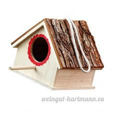 Sharplace Maison à Oiseaux en Bois Suspendue Nichoir Oiseau Sauvage - B07CT49PV4