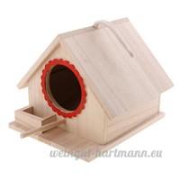 Baoblaze Nid D'oiseaux Boîte en Bois Avec Corde Oiseaux Déco Rural Pour Jardin Objets de décoration - 19 x 16x 14cm - B07CLL95ZZ